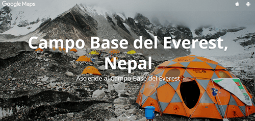 Explora el Everest con Googlemaps