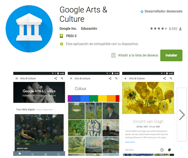 Nueva app Google Arts and Culture