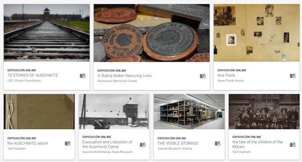 Historias del Holocausto. Google Arts and Culture