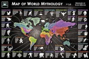 Map world mithology