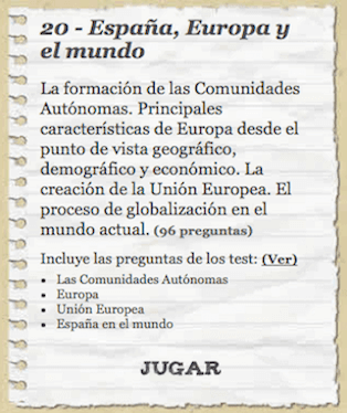 Tests España Europa y mundo